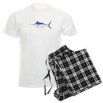 Blue Marlin fish Men's Light Pajamas