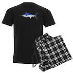 Blue Marlin fish Men's Dark Pajamas