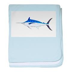 Blue Marlin fish baby blanket