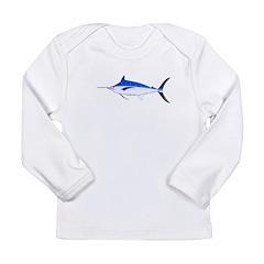 Blue Marlin fish Long Sleeve Infant T-Shirt