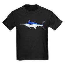 Blue Marlin fish Kids Dark T-Shirt