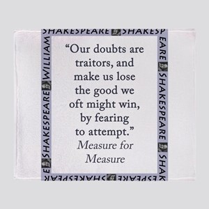 Our Doubts Are Traitors Throw Blanket