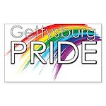Gettysburg Pride logo Sticker (Rectangle 10 pk)