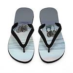 Keeshonds at the Seashore Flip Flops