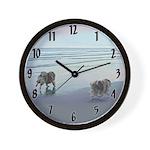 Keeshonds at the Seashore Wall Clock