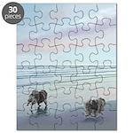 Keeshonds at the Seashore Puzzle
