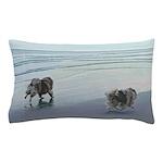 Keeshonds at the Seashore Pillow Case