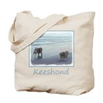 Keeshonds at the Seashore Tote Bag