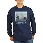 Keeshonds at the Seashore Long Sleeve Dark T-Shirt