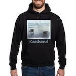 Keeshonds at the Seashore Hoodie (dark)