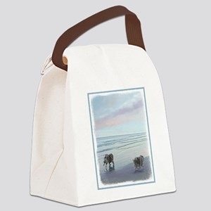 Keeshonds at the Seashore Canvas Lunch Bag