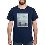 Keeshonds at the Seashore Dark T-Shirt