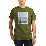 Keeshonds at the Seas Organic Men's T-Shirt (dark)