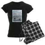 Keeshonds at the Seashore Women's Dark Pajamas