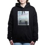 Keeshonds at the Seashor Women's Hooded Sweatshirt