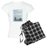 Keeshonds at the Seashore Women's Light Pajamas