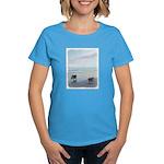 Keeshonds at the Seashore Women's Dark T-Shirt