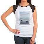 Keeshonds at the Seash Junior's Cap Sleeve T-Shirt