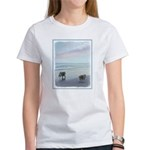 Keeshonds at the Sea Women's Classic White T-Shirt
