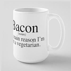 Bacon Black Large Mug