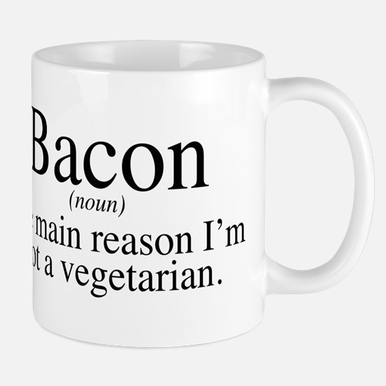 Bacon Black Mug