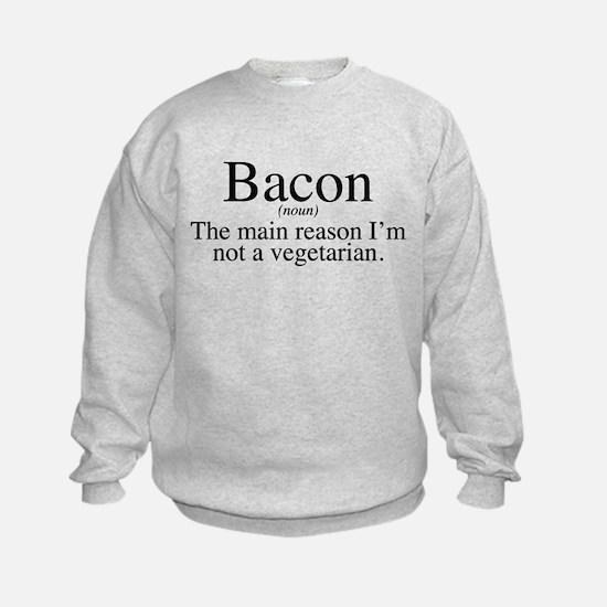 Bacon Black Sweatshirt