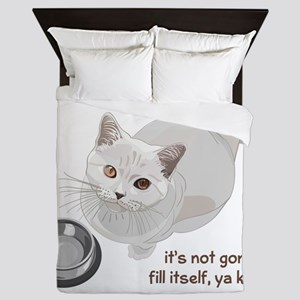 Feed Me Kitty Queen Duvet