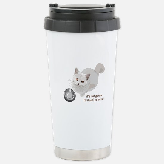 Feed Me Kitty Stainless Steel Travel Mug