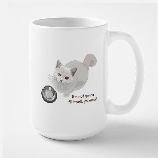 Feed Me Kitty Large Mug
