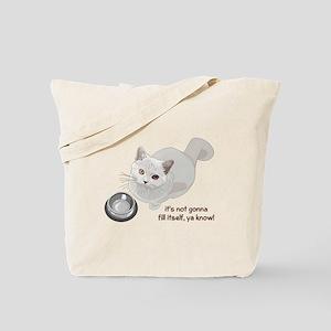 Feed Me Kitty Tote Bag