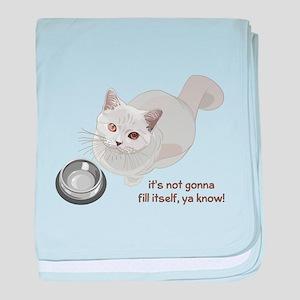 Feed Me Kitty baby blanket