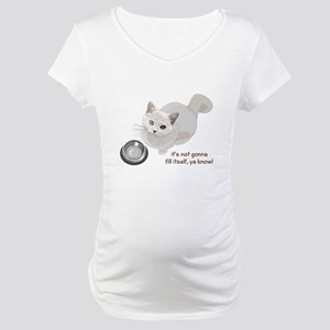 Feed Me Kitty Maternity T-Shirt