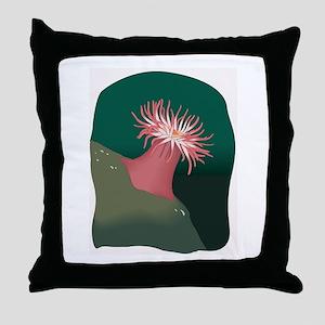 Sea Anemone Throw Pillow