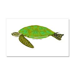 Green Sea Turtle Car Magnet 20 x 12