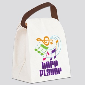 Harp Player Music Canvas Lunch Bag