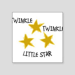 """Twinkle, Twinkle Square Sticker 3"""" x 3"""""""