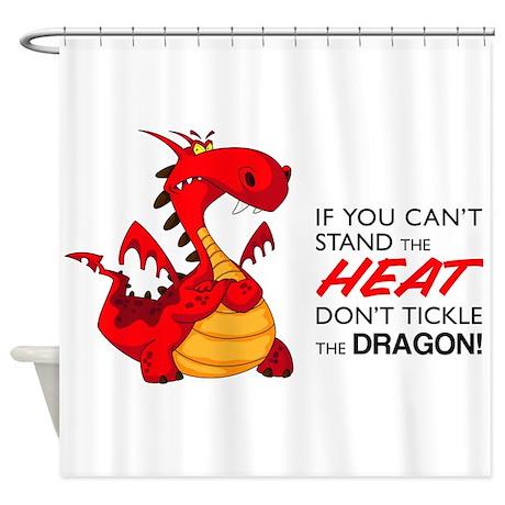 Tickle Dragon Shower Curtain