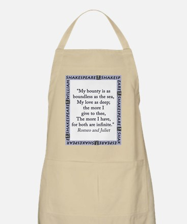My Bounty Is As Boundless As The Sea Light Apron