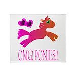 OMGPonies!! Throw Blanket