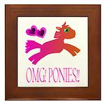 OMGPonies!! Framed Tile