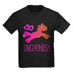 OMGPonies!! Kids Dark T-Shirt