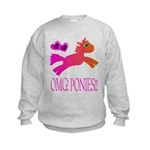 OMGPonies!! Kids Sweatshirt