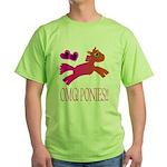 OMGPonies!! Green T-Shirt