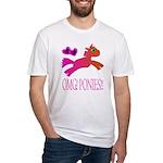 OMGPonies!! Fitted T-Shirt