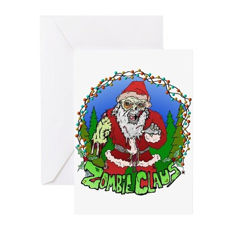 Zombie Claus Greeting Cards (Pk of 10)
