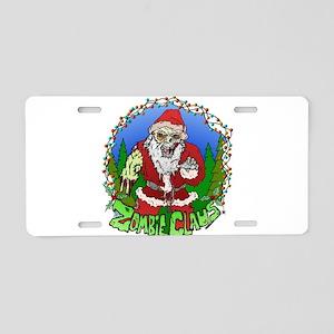 Zombie Claus Aluminum License Plate