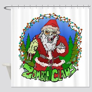 Zombie Claus Shower Curtain