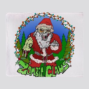 Zombie Claus Throw Blanket