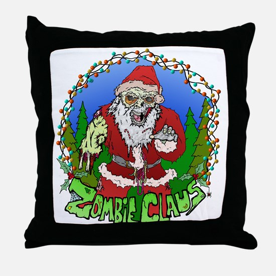 Zombie Claus Throw Pillow