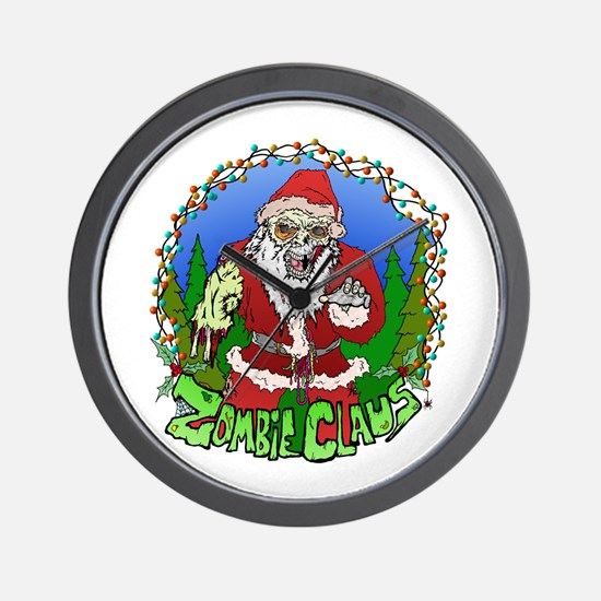 Zombie Claus Wall Clock